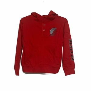 Portland Trail Blazers Hooded Long Sleeve Shirt